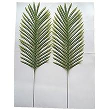 "Lot of 4 Palm Leaf Sprays 27"" Artificial Silk Stems 225GR"