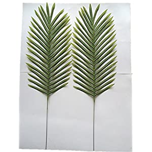 "Lot of 4 Palm Leaf Sprays 27"" Artificial Silk Stems 225GR 116"