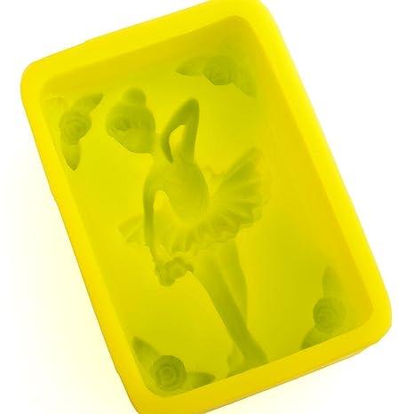 Bailarina con molde de silicona para hacer jabón - 120 G 4,2 oz