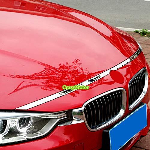 (1PCS FRONT HOOD BONNET GRILLE GRILL LIP MOLDING COVER TRIM BAR GARNISH FOR BMW 3 SERIES F30 2012 2013 2014 2015 2016)