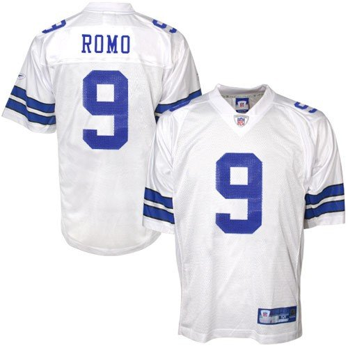 Tony Romo Back Jersey (Reebok Dallas Cowboys Tony Romo Replica White Jersey Extra Large)