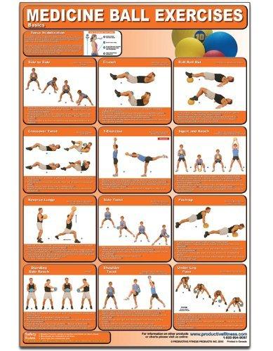 Medicine Ball Exercises - Basics Laminated (Poster) by Michael Jespersen (2010-04-13)