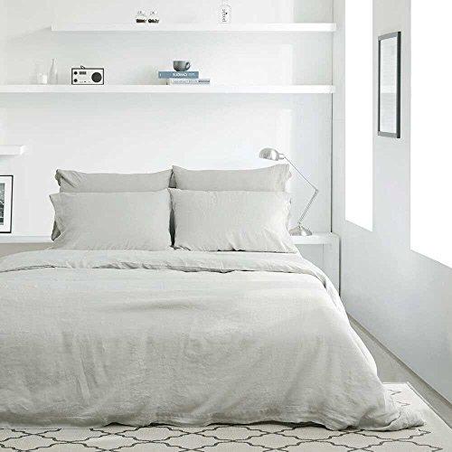 Merryfeel 100% Linen Duvet Cover Set - Full/Queen Natural by Merryfeel