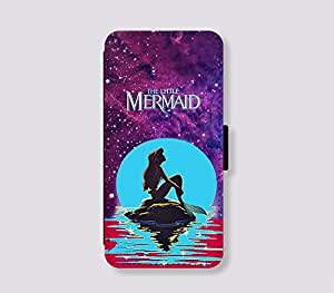 Card Slot Leather for iPhone 6 plus Case The little mermaid