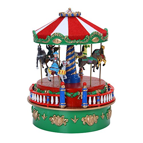 mr christmas 5 carousel mini carnival music box - Christmas Carousel Decoration