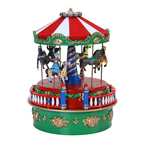 mr christmas 5 carousel mini carnival music box