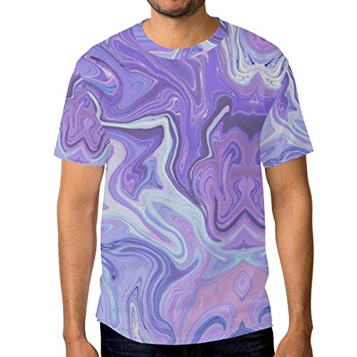 - Purple Paint Marble Men's Short Sleeve T-Shirt Royal Blue T-Shirt Men's Workwear Pocket Short Sleeve T-Shirt Men's Round Neck T-Shirt