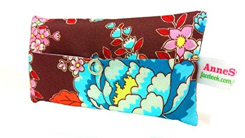 Taschentücher Tasche Retro Türkis Blume Adventskalender Befüllung Wichtelgeschenk Mitbringsel Give away Mitarbeiter Weihnachten