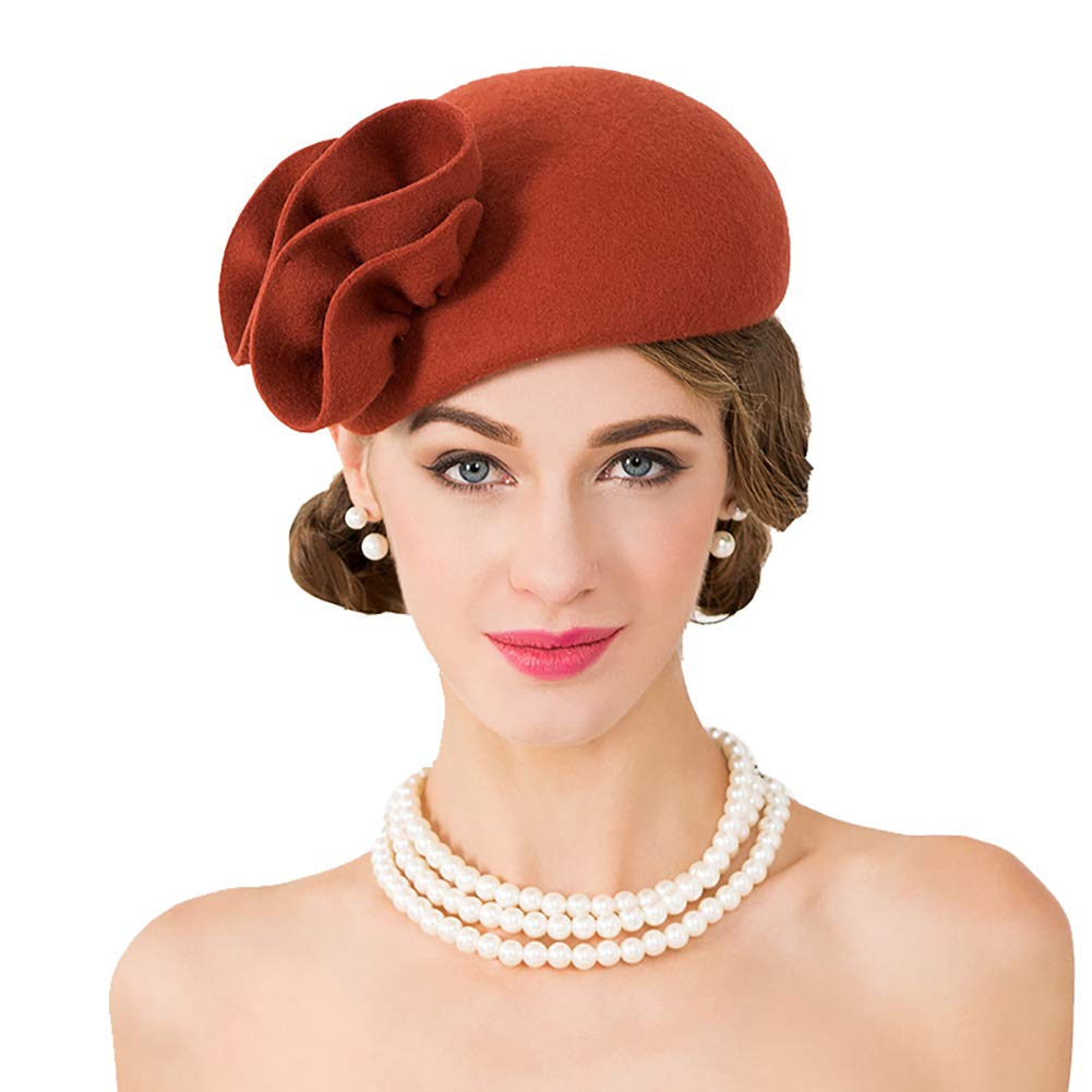 Luxurybox Ladies Beautiful 100/% Wool Beret Hat