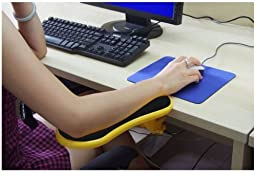 Skyzonal Ergonomic, Adjustable Computer Desk Extender Arm Wrist Rest Support (Yellow)