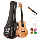 Donner Solid Electro-acoustic Ukulele Electric Tenor Ukulele EQ 26 inch Mahogany Body DUT-4E: more info