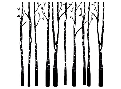 Fusible Decal - Birch Trees 3-7/8