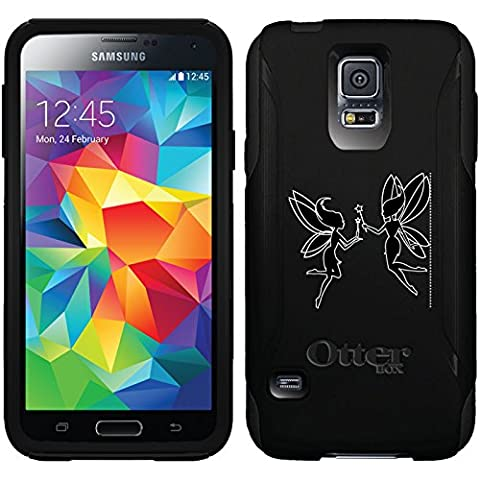 Dueling Fairies design on Black OtterBox Commuter Series Case for Samsung Galaxy S5 (Otterbox Samsung Galaxy S5 Skin)