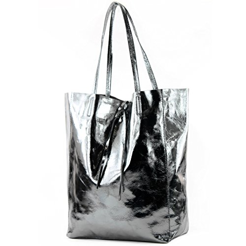 Bolso Bolso De De anthrazit Leather nur Shopper De Ital Handbag Bandolera Ital Bolso Farbe T163 De Modamoda Grande metallic metallic De Anthrazit nur Farbe Farbe Präzise Shopper Farbe Of Bolso Cuero Lady Bag T163 Señora Shoulder Bag Leather Präzise Fashionfashion Cuero Big Bag Bag S7nY0xwq