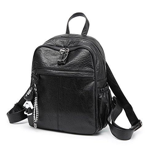 École Zippers Femme Sacs Sacs à Noir des Coton Dos AalarDom p6qW5ZEwF6