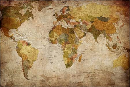 Posterlounge poster 90 x 60 cm vintage world map by editors choice posterlounge poster 90 x 60 cm vintage world map by editors choice high quality gumiabroncs Images