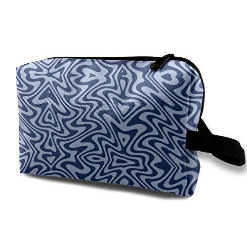 - Art Nouveau Butterfly Swirls - Blue_1773 Toiletry Bag Cosmetic Bag Portable Makeup Pouch Travel Hanging Organizer Bag For Women girl 10x5x6.2 inch