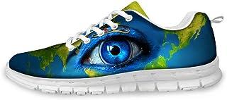 spArt Série Eye Sneakers Sport Art Mode Casual Chaussures de Marche légères Dames Respirant Exercice Art Goût Chaussures de Sport