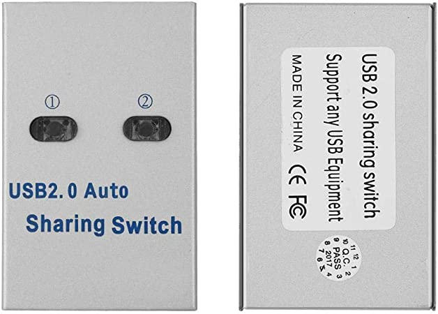 Liukouu PC Computer USB 2.0 Auto/Manual Switch Switch Hub 2 ...