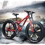 GASLIKE-Mountain-Bike-da-26-Pollici-per-Uomini-e-Donne-Ragazzi-e-Adulti-Telaio-in-Acciaio-al-Carbonio-Freno-a-Disco-Meccanico-Cerchi-in-Lega-di-Alluminio