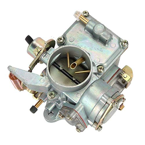 Car Carburetor for VW Beetles, ALAVENTE 34 Pict-3 Carburetor for 1971-1979 VW Beetles Super Beetles Dual Port 1600cc Engine 113129031K 98-1289-B Karmann Bug Bus Thing Ghia Squareback Transporter