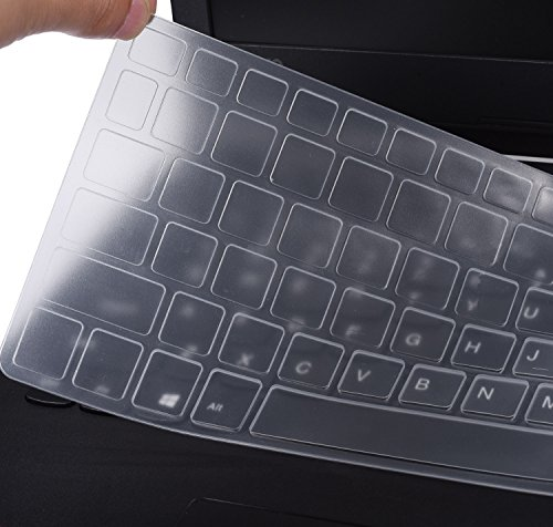 Keyboard Silicone Protector Cover Skin for Acer Aspire R15 R5-571T R5-571TG 15.6/Aspire 3 A315/Aspire 5 A515/Aspire 7 A715, Clear