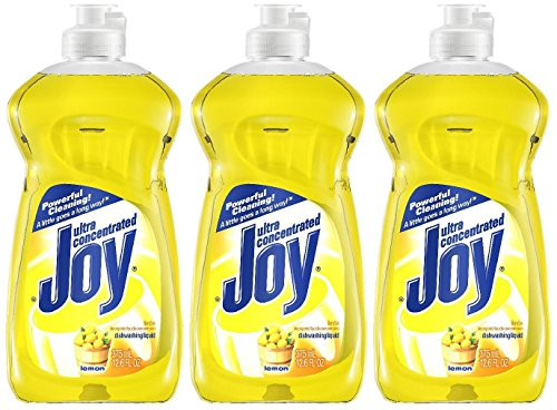 Joy Ultra Dishwashing Liquid, Lemon Scent, 12.6 oz-3 pk