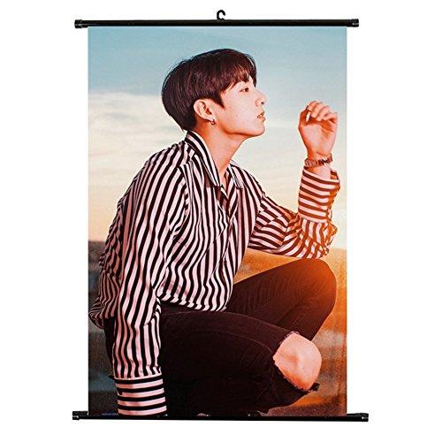 NUOFENG Kpop BTS Bangtan Boys MIC Drop Poster Wall Scroll Ha