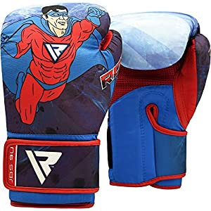 RDX Kids Boxing Gloves 6oz Muay Thai Children MMA Training Junior Punch Bag Cartoon Youth Kickboxing Mitts