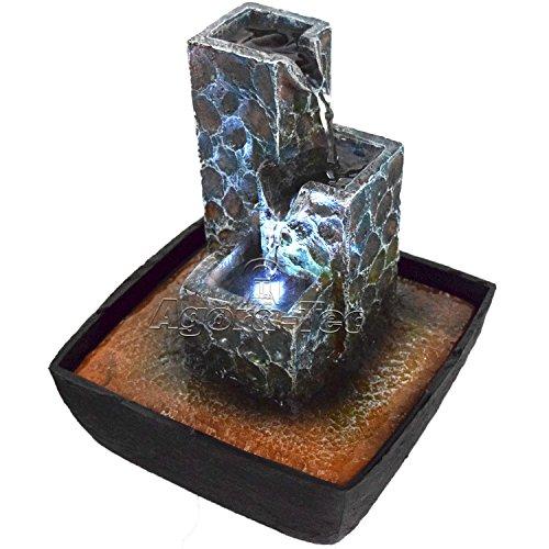 Agora-Tec-Wasserspiel-Zimmerbrunnen-KASKADE-mit-kaskadenfrmig-angeordneten-Felssteinen-mit-LED-Beleuchtung-sehr-angenehmer-leiser-Wasserlauf-21-cm-hoch