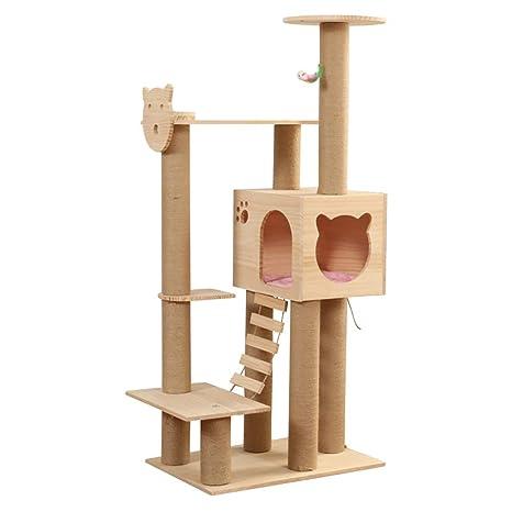 Cat Tree Tower Condo Furniture - Marco de escalada de madera ...