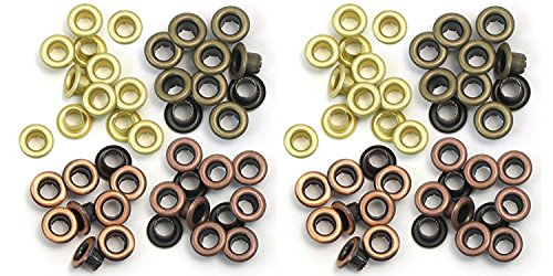 We R Memory Keepers Eyelets for Scrapbooking, Warm Metal, Standard (2 - Keepers Wide Memory Eyelets