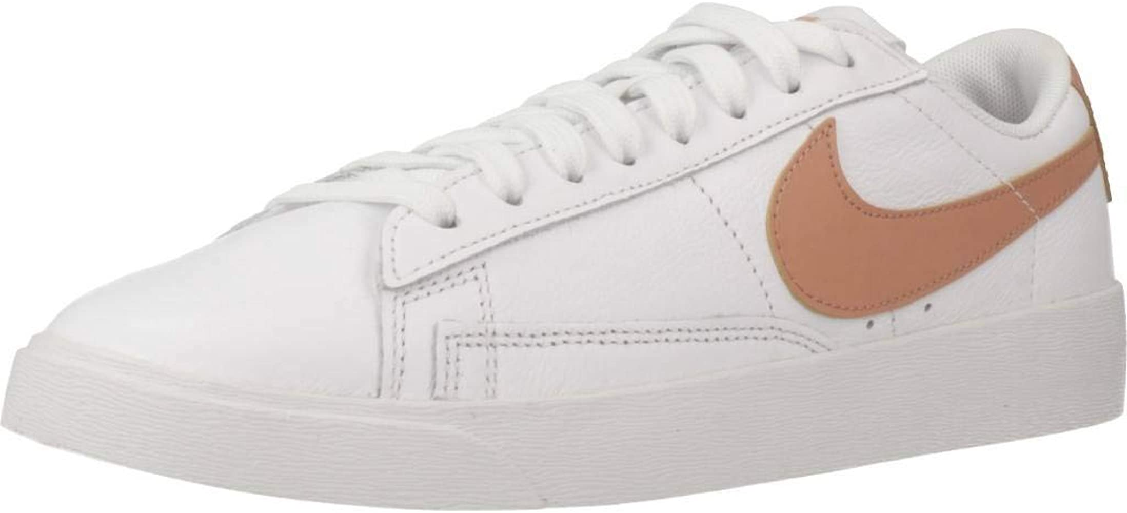 Amazon.com | Nike Women's Blazer Low LE White/Rose Gold | Shoes