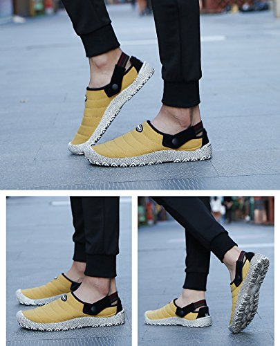 Casual Shoes Walking Canvas Yellow Clogs Sneakers Mens Women Mule Slip Slippers On zZgvwq1g