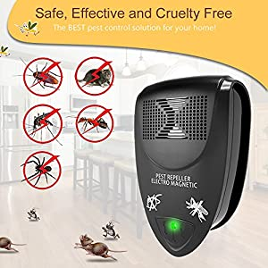 [2018 UPGRADED] Bigear Ultrasonic Pest Repeller - Pest Control Ultrasonic Repellent Electronic Plug In - Anti Mice, Rats, Spiders, Fleas, Roaches, Bed Bugs, Mosquitoes, Eco-Friendly, Human & Pet Safe