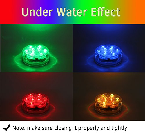 Submersible Led Lights With Remote Battery Powered Qoolife Rgb