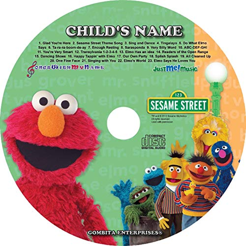 Gombita Enterprises Children Name Personalized - CD & MP3 Digital - Sing Along with Elmo and Friends