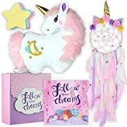 Follow Your Dreams - Unicorn Pillow and Dreamcatcher Gift Set - Includes Book, Plush Pillow, Dream Catcher, an