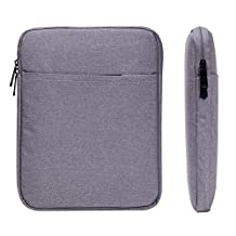"""Waterproof Tablet Sleeve Case AFILADO Protective Travel Pouch Bag Cover (Up To 10.5 inch) for Apple iPad Air 2 / iPad Air / iPad 4, 3, 2 / 9.7"""" iPad Pro / Kindle DX 97'' (Grey)"""
