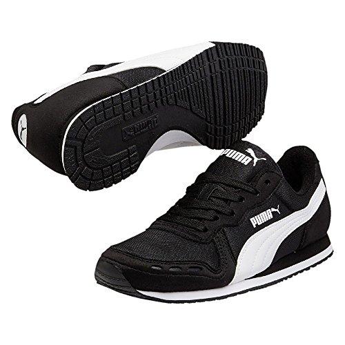 Puma Cabana Racer Mesh Jr - black-white, Größe:10C