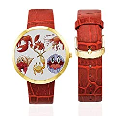 Women's Golden Leather Strap Watch Is Simple, Luxury, And Fashion Design Wrist Watch Will Go Great with Any Outfit And Any Occasion.It Enables You to Easily Spice Up A Normal Outfit And Add Style to Your Life.Minimalist And Beautiful, Elegant...