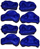 Rock Pegs Small for Indoor & Outdoor Rock Wall to Get Kids Exercise Climbing to Strength Upper Body known as Rock hold - rock climbing wall (Blue(2-Packs))