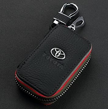 Amazon amooca car smart key chain leather holder cover case amooca car smart key chain leather holder cover case fob remote for toyota sciox Images