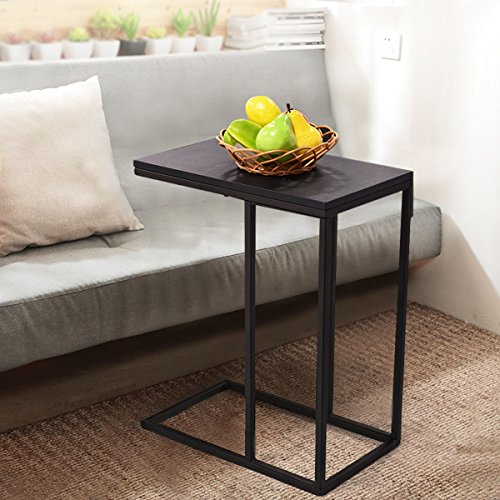 Tangkula Coffee Tray Sofa Side End Table Ottoman Couch