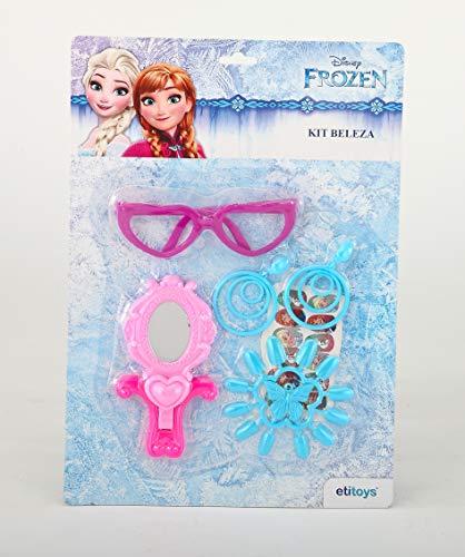 Kit Beleza Frozen Etitoys Azul/Rosa/Roxo
