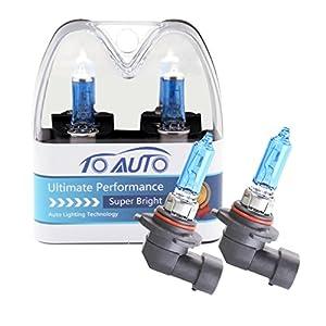 ToAUTO 2 X 9005 HB3 100W 12V Car Headlight Lamp Halogen Light Super Bright Fog Xenon Bulb White