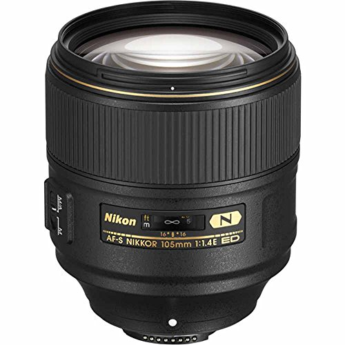 Nikon AF-S FX NIKKOR 105mm f/1.4E ED Lens with Auto Focus for Nikon DSLR Cameras