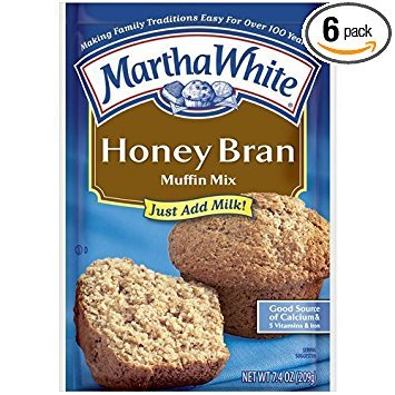 Oat Bran Pancake Mix - Martha White Muffin Mix Honey Bran 7.4 oz. (Pack of 6)