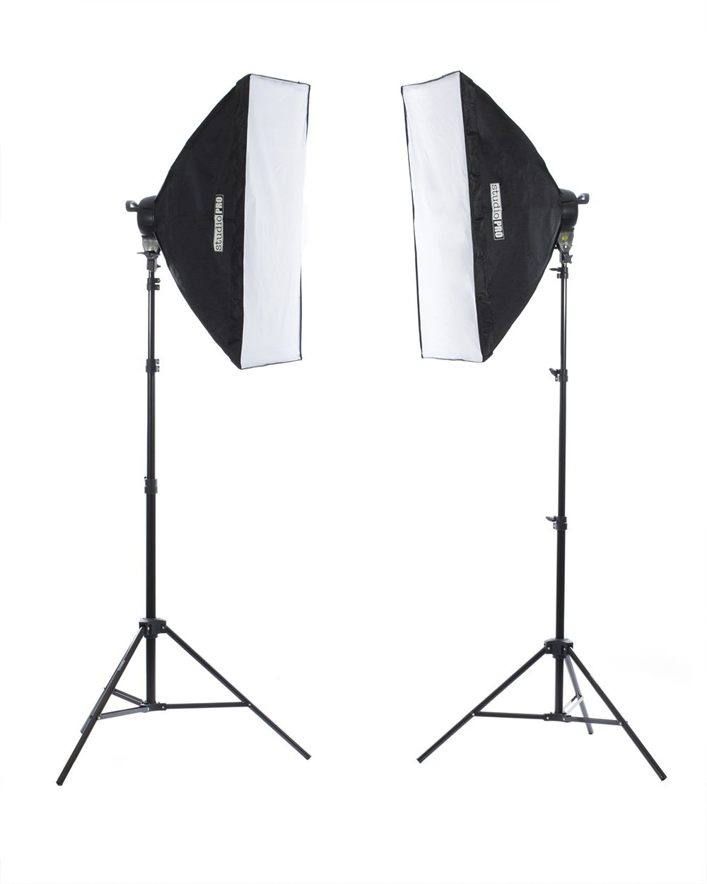 Fovitec - 2-Light 3200W Fluorescent Lighting Kit for Photo & Video with 24''x36'' Softboxes, stands, & Carry Bag by Fovitec