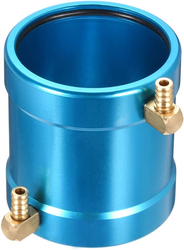uxcell RC Model Boat Motor Water Cooling Jacket Metal Parts 40mm Blue for for 40-Series RC Boat Motor Part Accessory